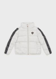 Armani Quilted, padded jacket with logo taping