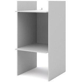 Wood Space 2 Cubby Utility Storage Unit in Silver