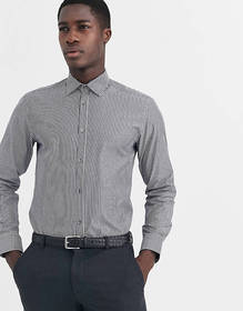 French Connection mid stripe slim fit shirt