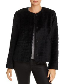 Eileen Fisher - Cropped Faux-Fur Jacket - 100% Exc