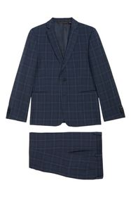 Michael Kors Nested Plaid Suit (Big Boys)