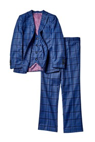 Isaac Mizrahi Plaid 3-Piece Slim Suit (Toddler