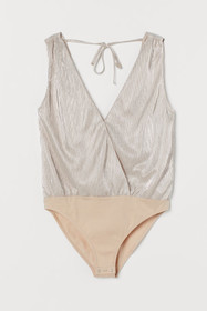 Pleated Bodysuit