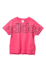 adidas Exploded Outline Linear Tee (Big Girls)