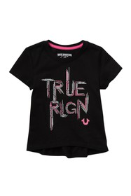 True Religion Sketched Logo T-Shirt (Little Girls)