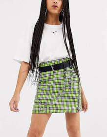 ASOS DESIGN multi chain and pin waist and hip jean