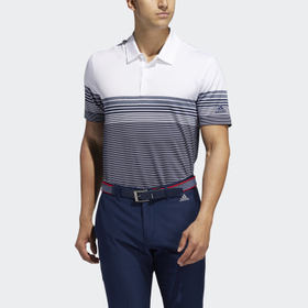 Adidas Ultimate365 Gradient Block Stripe Polo Shir