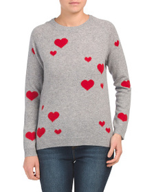 PHILOSOPHY Scattered Hearts Cashmere Sweater