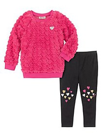 Juicy Couture Little Girl's 2-Piece Faux Fur Sweat