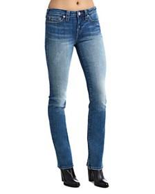 True Religion - Billie Mid Rise Straight Leg Jeans