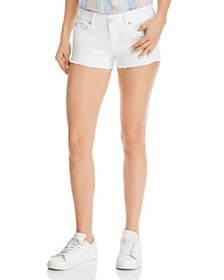 True Religion - Joey Low-Rise Denim Shorts in Whit