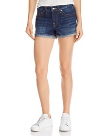 True Religion - Jennie Mid-Rise Denim Shorts in Bl