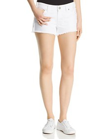 True Religion - Keira Fray Denim Shorts in Optic W