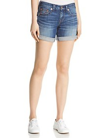 True Religion - Jayde Flap Mid-Rise Denim Shorts i