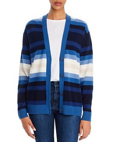 Theory - Striped Cashmere Cardigan - 100% Exclusiv