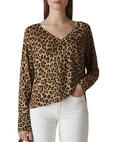 Whistles - Leopard-Printed Linen Sweater