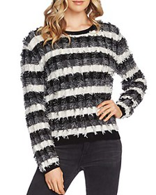 VINCE CAMUTO - Striped Fringe Sweater