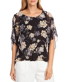 VINCE CAMUTO - Enchanted Floral Batwing Top - 100%