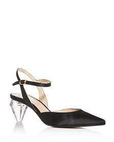 MARC JACOBS - Women's The Slingback Pointed-Toe Pu