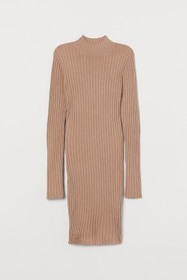 Ribbed Turtleneck Dress