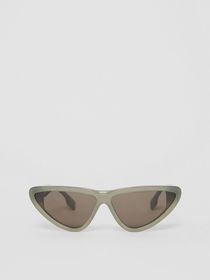 Burberry Triangular Frame Sunglasses in Opal Green