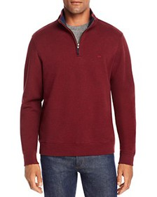 Brooks Brothers - Knit Cotton Terry Half-Zip Sweat