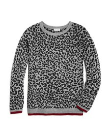 Splendid - Girls' Leopard Print Sweater - Big Kid
