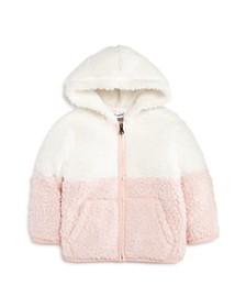 Splendid - Girls' Color-Block Sherpa Hoodie - Baby