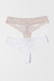 2-pack Lace Thong Briefs