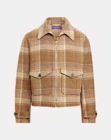 Ralph Lauren Plaid Cashmere-Wool Jacket