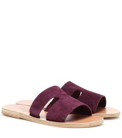 Ancient Greek Sandals Apteros suede sandals