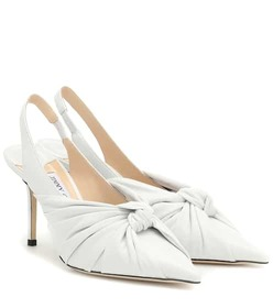 Jimmy Choo Annabell 85 leather slingback pumps