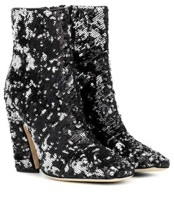 Jimmy Choo Mirren 100 sequinned ankle boots