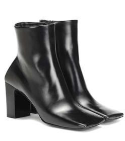 Balenciaga Double Square leather ankle boots