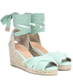 Castañer Bluma canvas wedge espadrilles