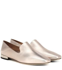 Jimmy Choo Jaida metallic leather ballerinas