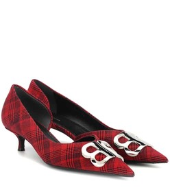 Balenciaga BB plaid pumps
