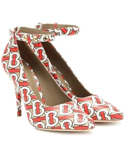 Burberry Wiltkin printed leather pumps
