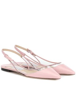 Jimmy Choo Erin leather slingback ballet flats