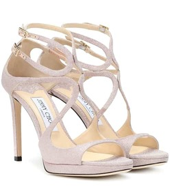 Jimmy Choo Lance 100 glitter sandals