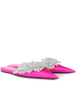 Balenciaga Embellished satin slippers