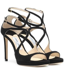 Jimmy Choo Lance 100 suede sandals
