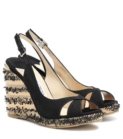 Jimmy Choo Amely 105 platform wedge sandals