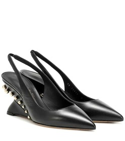 Salvatore Ferragamo Bienno leather slingback pumps