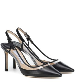 Jimmy Choo Erin 85 leather slingback pumps