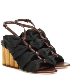 Salvatore Ferragamo Leather-trimmed sandals