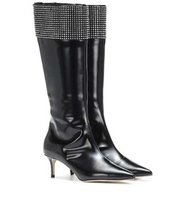 Christopher Kane Embellished leather knee-high boo