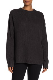 BCBGMAXAZRIA Rib Knit Crew Neck Sweater