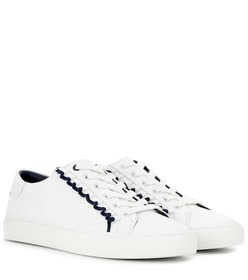 Tory Burch Ruffle embellished leather sneakers
