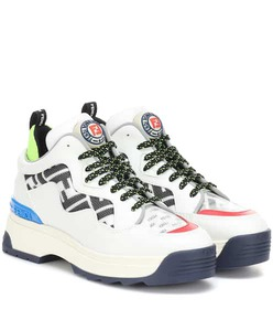 Fendi T-Rex leather sneakers